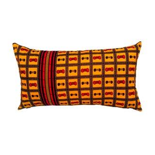 Sample Sale Wax Print Lumbar Pillow