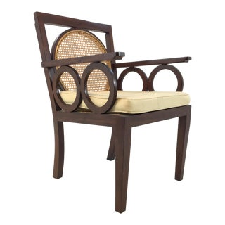 Transitional Hickory Chair Circle Cane Chair For Sale
