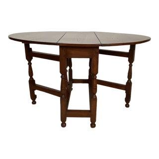 Oak Drop Leaf Table, England Circa 19th Century For Sale