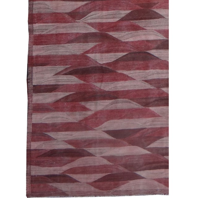 "Modern Hand Knotted Modern Kilim by Aara Rugs Inc. - 13'3"" X 9'11"" For Sale - Image 3 of 4"
