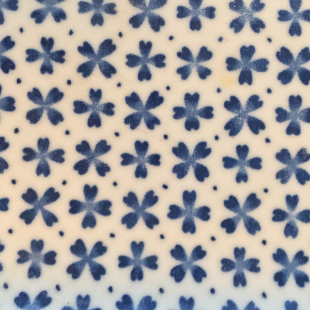 Blue and White Asian Patterned Plates - Set of 4 For Sale - Image 4 of 7