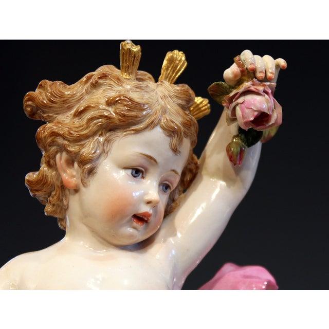 "Antique Meissen Allegorical Day Figure Porcelain German Signed 14"" For Sale In New York - Image 6 of 13"