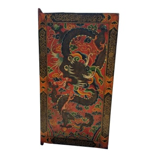 Late 19th Century Antique Tibetan Monastery Door For Sale