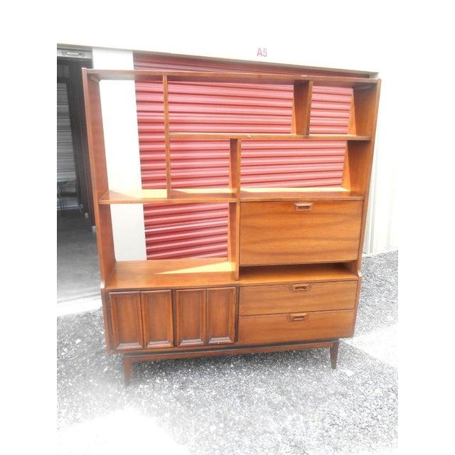 1960s Danish Modern Walnut Room Bookcase/Wall Cabinet - Image 5 of 5