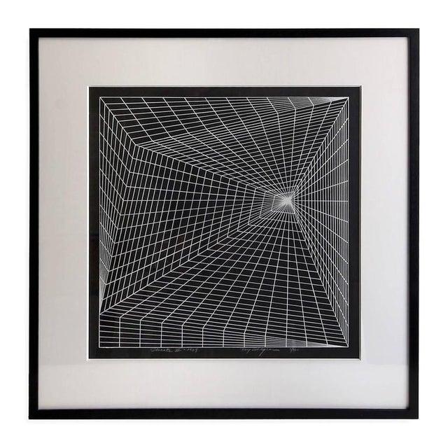 """Roy Ahlgren 1969 """"Lineate II"""" Newly Framed Silkscreen by Roy Ahlgren For Sale - Image 4 of 4"""