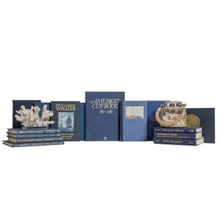Nautical Navy and Gilt Book Set, (S/20) Preview