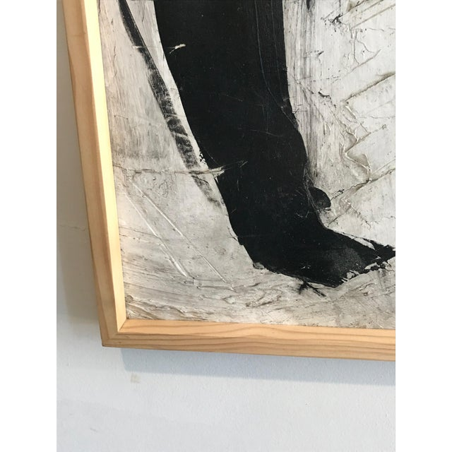 Canvas 1960s Abstract Black and White Painting by Graham Harmon For Sale - Image 7 of 9