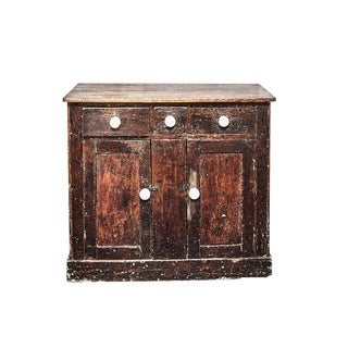 Rustic Painted Cabinet For Sale