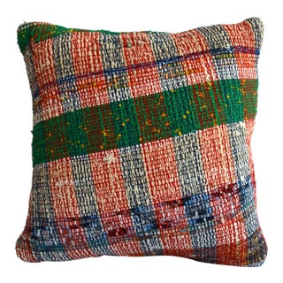 "16"" Pillow Cover Vintage Handmade Cotton Ragrug Kilim Sham Throw For Sale"