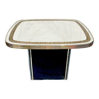 Vintage Art Deco Style Mirrored End Table For Sale