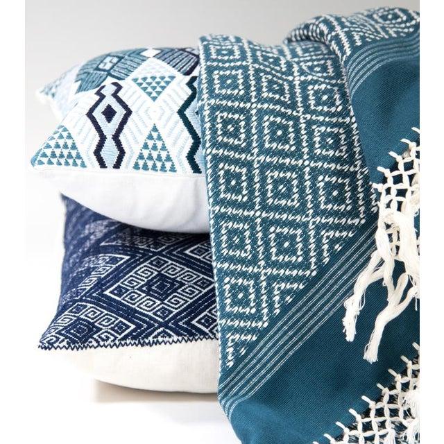 Navy Diamond Handwoven Pillow - Image 6 of 6