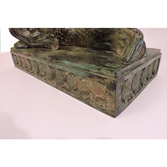 Late 20th Century Bronze Mythical Sea Serpent For Sale - Image 5 of 7