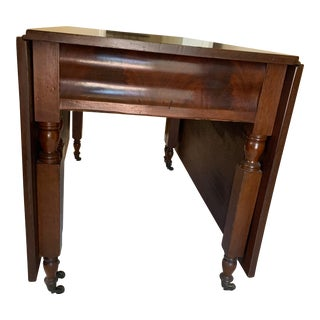 Antique Drop Leaf Dining Table For Sale