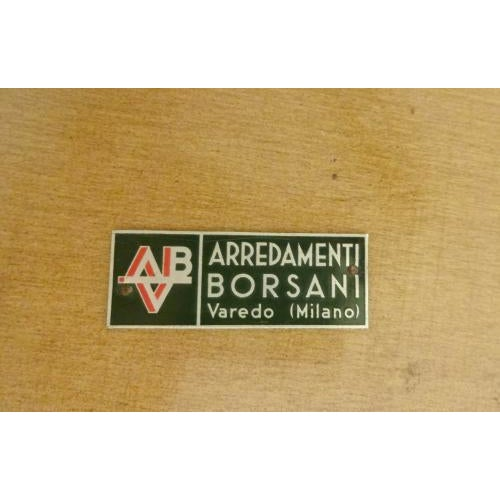 Osvaldo Borsani Rare and Important Center Table in Cherry and Glass For Sale - Image 9 of 9