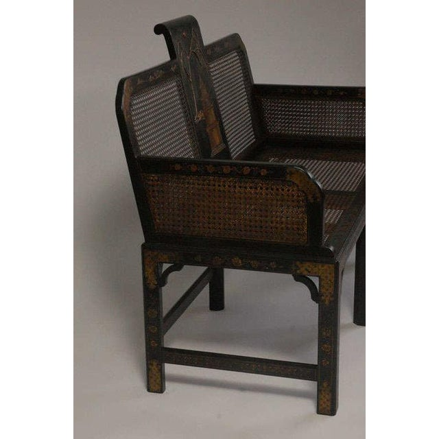 Ebony Chinoiserie Seating Suite For Sale - Image 8 of 10