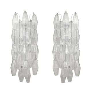 Venini Poliedri Sconces - Pair For Sale