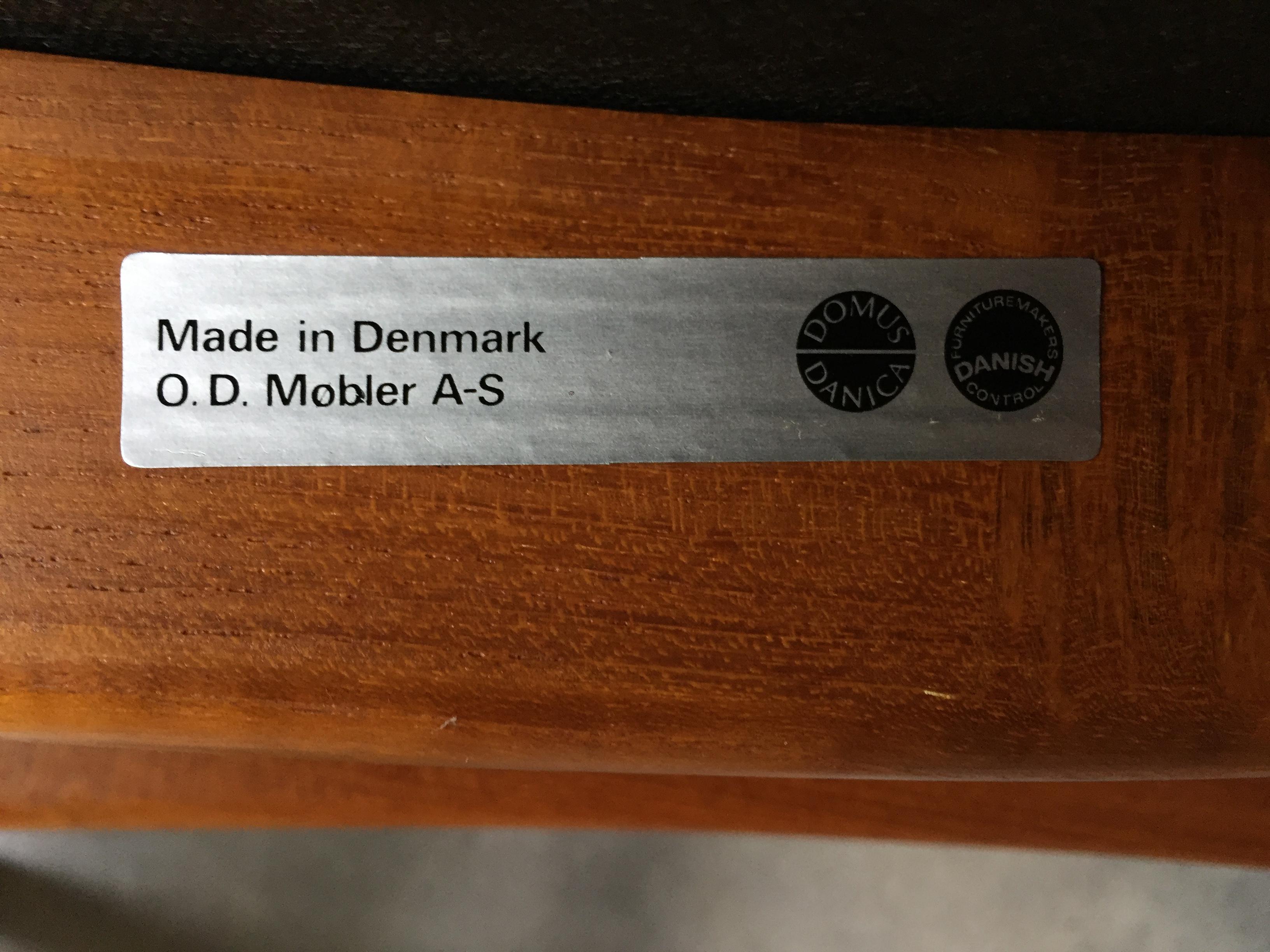 Vintage Erik Buck O D Mobler Danish Dining Chairs Set of 4