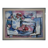 Image of 1960s Vintage John Otterson Abstract Still Life Painting For Sale