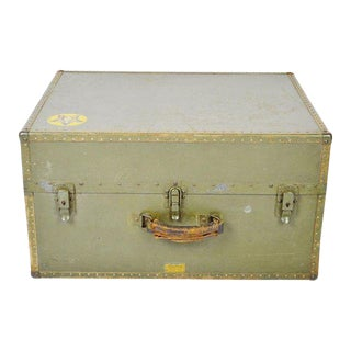 Authentic Military Wwii Era Hartmann Seapack Suitcase For Sale