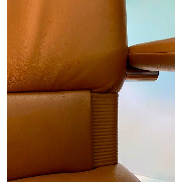 Mario Bellini Executive Swivel Chair in Leather For Sale - Image 12 of 13