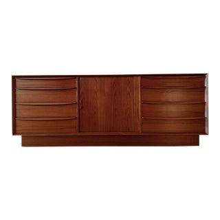 1960s Danish Modern Falster Mobelfabrik Teak Wood Dresser/Sideboard For Sale