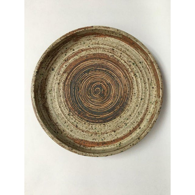 Tue Poulsen Danish Modern Large Stoneware Studio Pottery Tray For Sale - Image 10 of 10