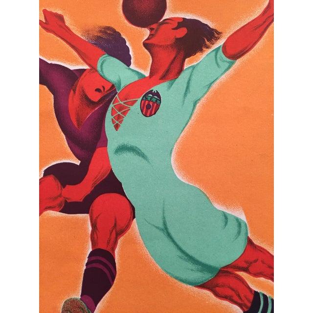 Original Vintage 1931 Spain Soccer Poster For Sale - Image 6 of 6