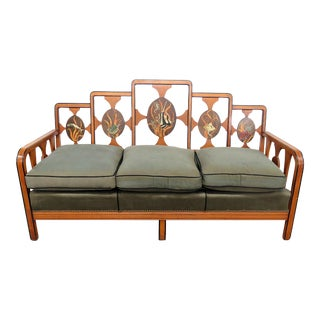 Art Deco Paint Decorated Sofa For Sale