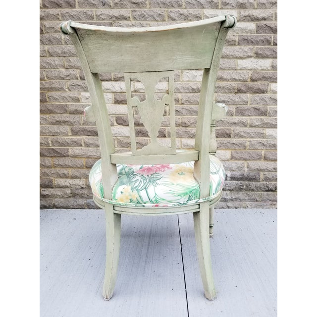 Italian Neoclassical Painted Armchair For Sale In New York - Image 6 of 13