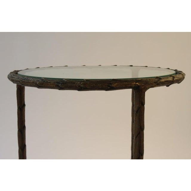 1950s 1950s Baguès Bronze Circular Nesting Tables For Sale - Image 5 of 13
