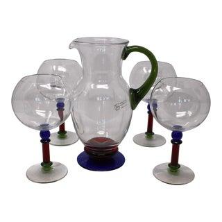 Contemporary Murano Glass Stemware - Set of 5 For Sale