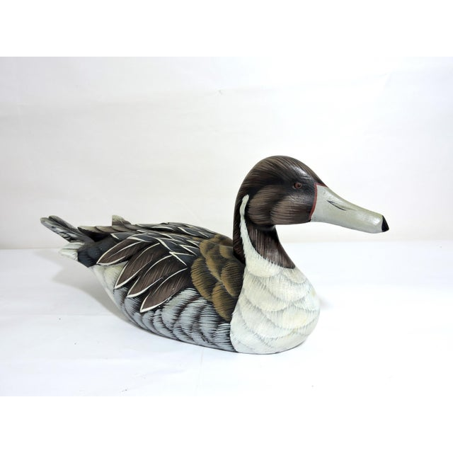 1970s 1970s Vintage Country Wooden Duck Decoy For Sale - Image 5 of 5