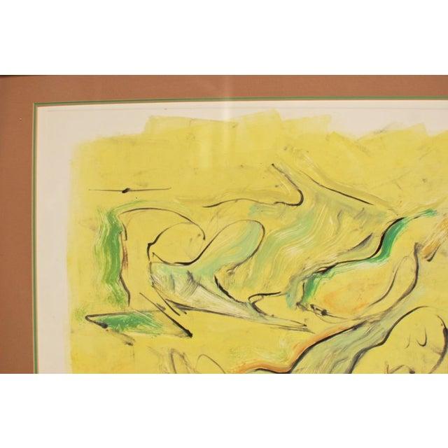 "Allan Cox Asian Mono Print ""Tidal Confluence"" - Image 3 of 4"