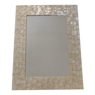 Mother of Pearl Shell Inlay Wall Mirror For Sale