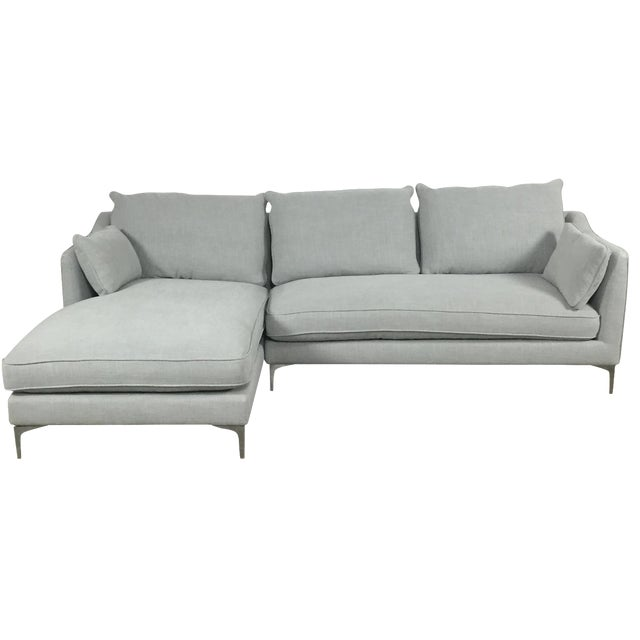 Modern Canvas Sectional Sofa - Image 1 of 8