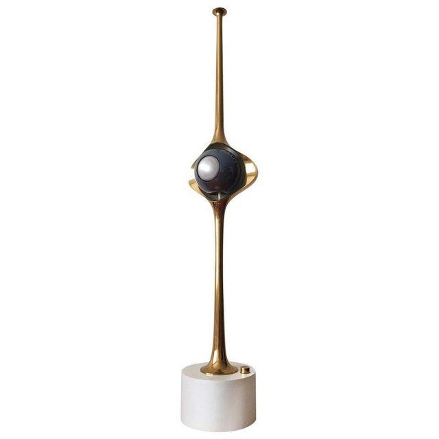 Gold Angelo Lelli Cobra Lamp for Arredoluce, in Brass, 1964 For Sale - Image 8 of 9