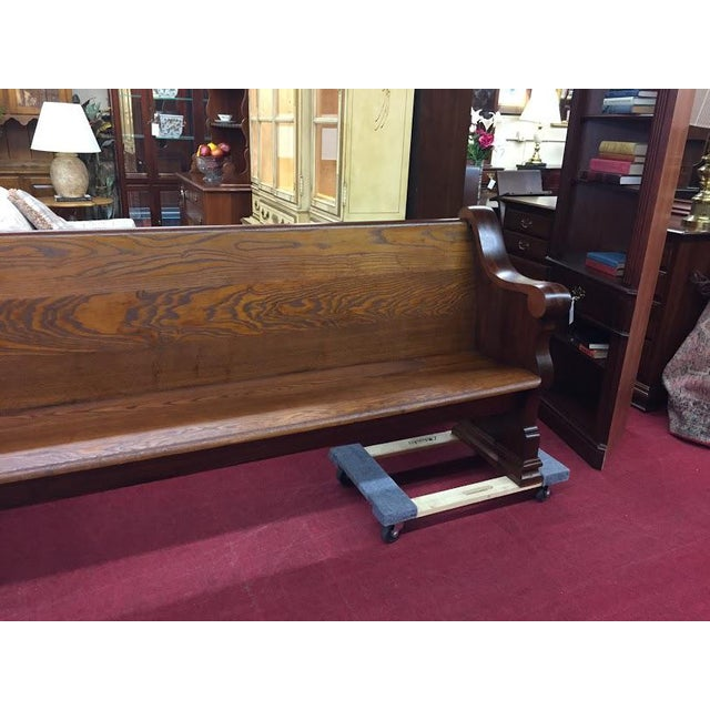 Mid 19th Century Antique Walnut and Ash Church Pew For Sale - Image 5 of 10