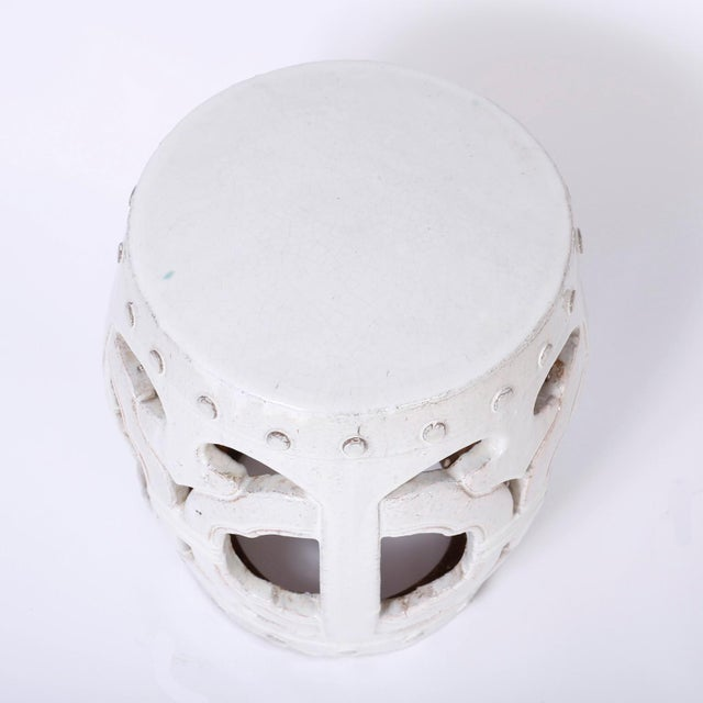 White Chinese Garden Seats - A Pair For Sale In West Palm - Image 6 of 7