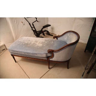 Late 19th Century French Hand-Carved Upholstered Chaise Lounge Preview