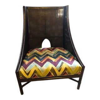 Barbara Barry by McGuire Caned Lounge Chair For Sale