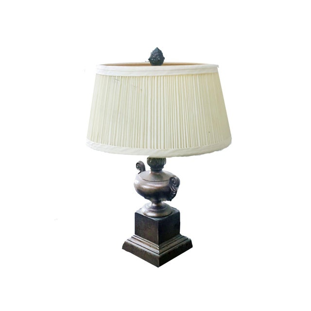 Brown Vintage Petit Decorative Trophy Cup Table Lamp For Sale - Image 8 of 8