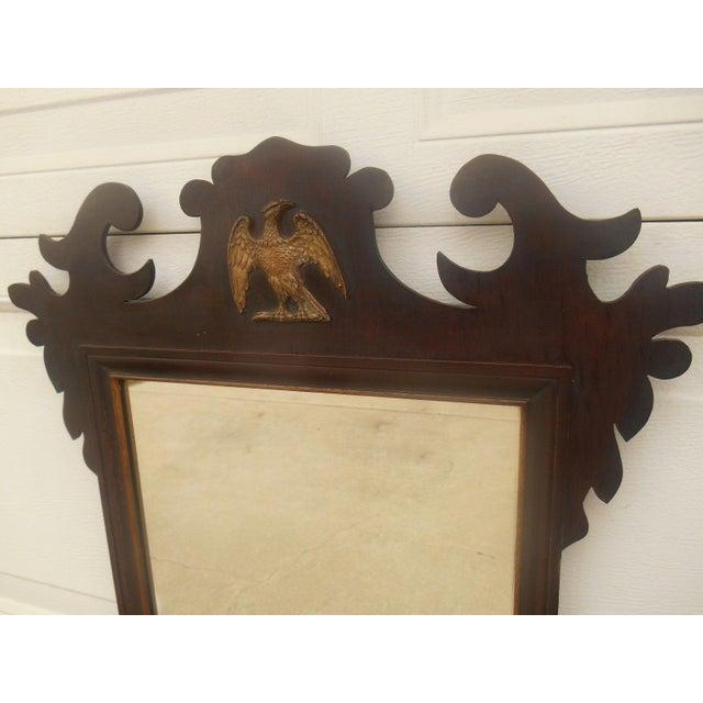 Antique Large Federal Eagle Crest Gold Gilt Mirror - Image 4 of 6