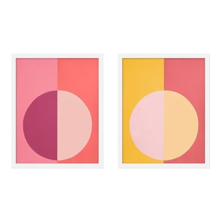 "Medium ""Pink and Orange Forever, a Pair"" Print by Stephanie Henderson, 16"" X 40"" For Sale"
