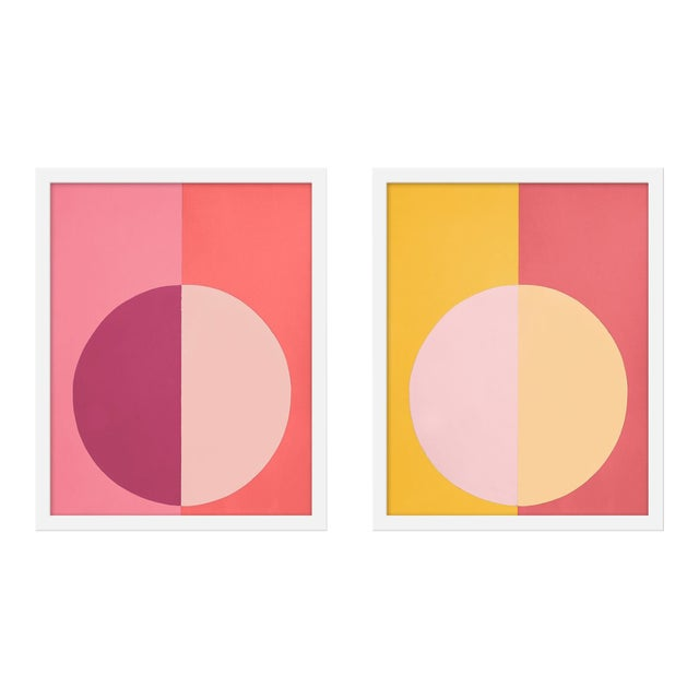 """Medium """"Pink and Orange Forever, a Pair"""" Print by Stephanie Henderson, 16"""" X 40"""" For Sale"""