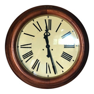 Traditional Train Station Clock For Sale