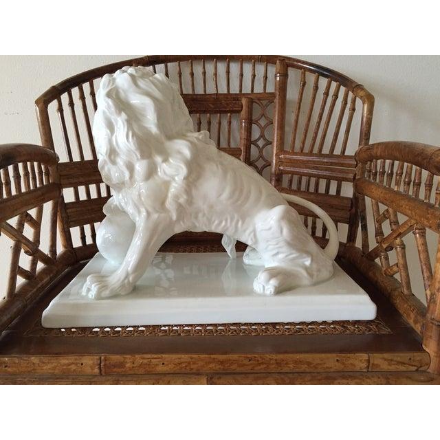 Large Vintage Spanish Ceramic Lion - Image 4 of 6