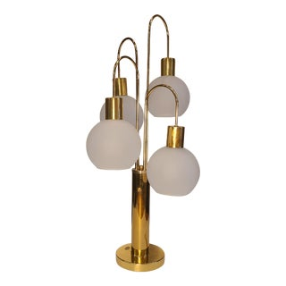 Brass Clover Waterfall Lamp For Sale