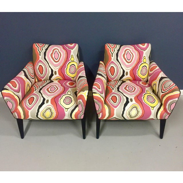 Italian Mid Century Lounge Chairs in the Style of Ico Parisi - a Pair - Image 4 of 9