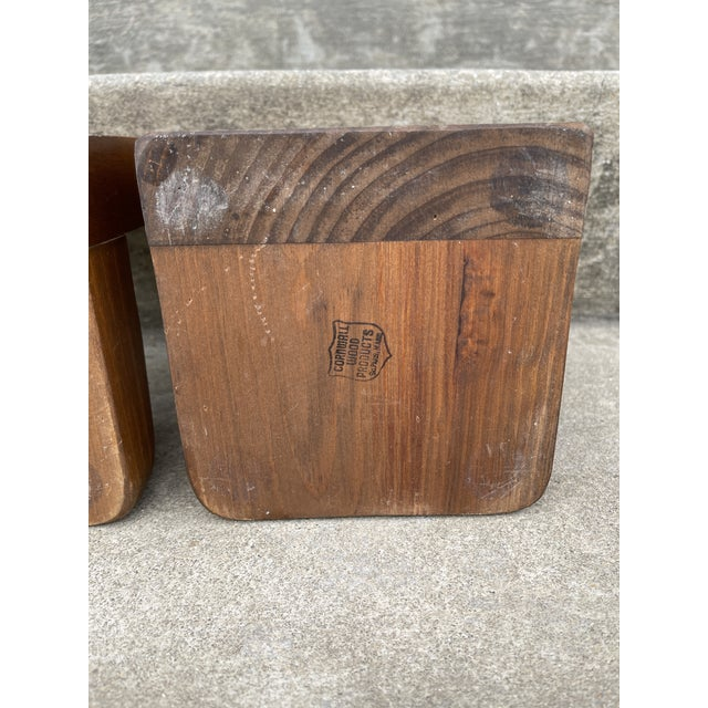 Brass & Walnut Golf Club Bookends For Sale In Richmond - Image 6 of 11