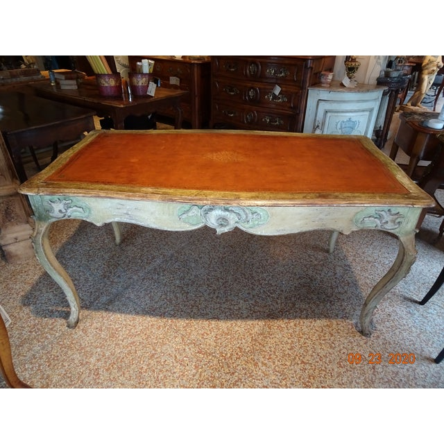 19th Century French Writing Desk With Leather Top For Sale - Image 13 of 13